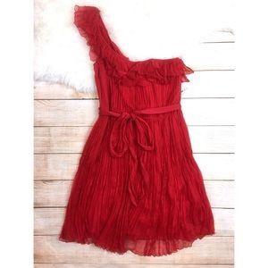 Kate Moss Topshop red one shoulder dress NEW 12